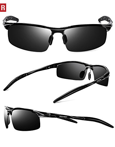 1cd0afa830 Amazon.com  ROCKNIGHT Driving Polarized Sunglasses for Men UV Protection HD Glasses  Ultra Lightweight Al-Mg Metal Outdoor Golf Fishing Sports Sunglasses ...