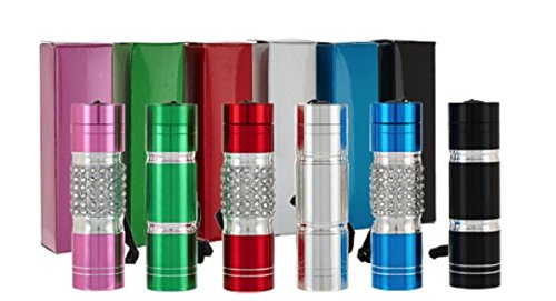 Cornerstone 6 Pack Ultra Bright Bling LED Flashlight Torch - 9 LED 35 Lumen