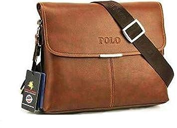 c4a0d122e Videng Polo Travel Messenger Laptop Bag for Men - Leather, Brown ...