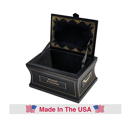 The Leather Chess Casket - Black - by The House of Staunton ()