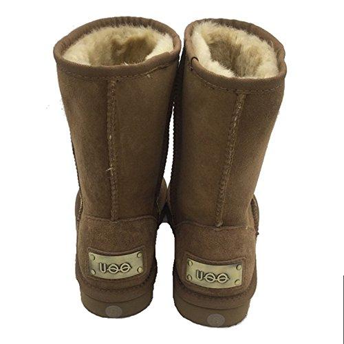 Models Classic Boots Sheepskin Snow UOO Chestnut Boots Short Womens 5fWqX7aw7P