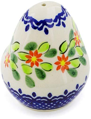 Polish Pottery 2½-inch Salt Shaker (Elegant Garland Theme) + Certificate of Authenticity