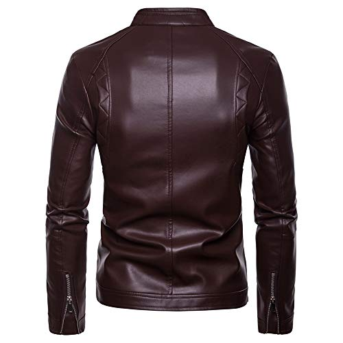 2xl Giacca Cappotto S In Size Brown color Motocicletta S moto Corsa Brown Di Marrone Uomo Pelle Da Chenyongping Qualità Nera S1qwOS