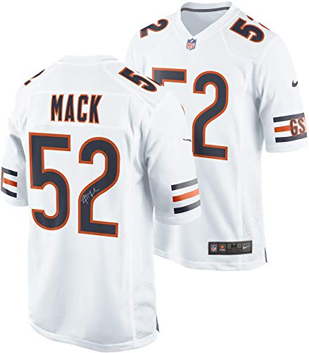 Khalil Mack Chicago Bears Autographed Nike White Game Jersey - Fanatics Authentic Certified - Autographed NFL - Autographed Jersey