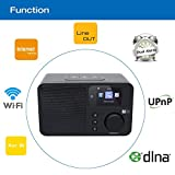 Ocean Digital Internet Radio WR233 WiFi WLAN Wireless Connection Desktop DLNA Streaming Color Display- Black