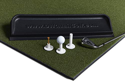 Dura-Pro Commercial Golf Mat Premium Turf. Includes Golf Tray and 3 Rubber Tees. Practice Hitting and Chipping for Driving Range or Home Use, Backyard, As Seen On The Golf Channel TV