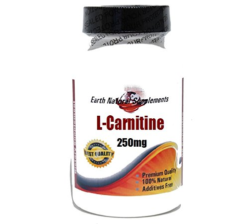 L-Carnitine 250mg * 200 Capsules 100 % Natural - by EarhNaturalSupplements