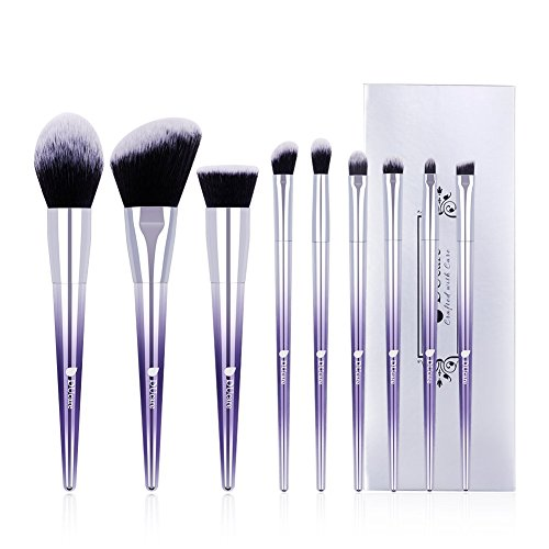 DUcare Ombré Makeup Brush Set, 9Pcs Professional Makeup Bru