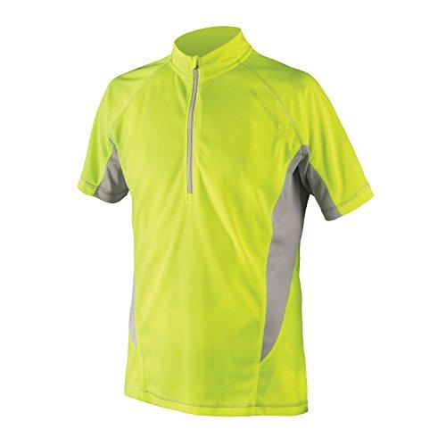 Endura Cairn Short Sleeve Cycling Jersey Hi Viz, Large