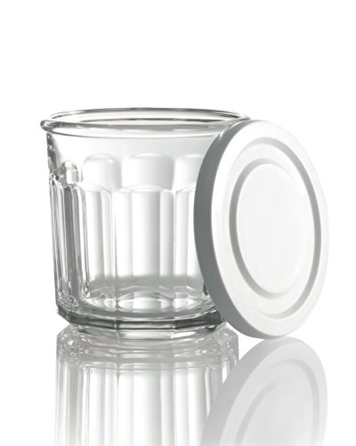 (Arc International Luminarc Working Storage Jar/Dof Glass with White Lid, 14-Ounce, Set of 4 (H6812) )