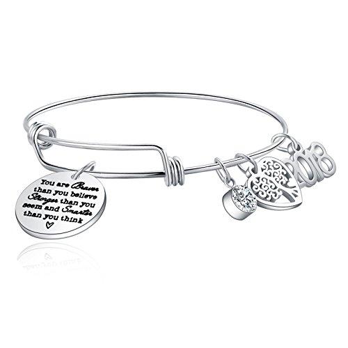 ivyAnan Jewellery Charm Bracelet 2018 2019 Adjustable Bangle Graduation Gift for Women Girls Friends