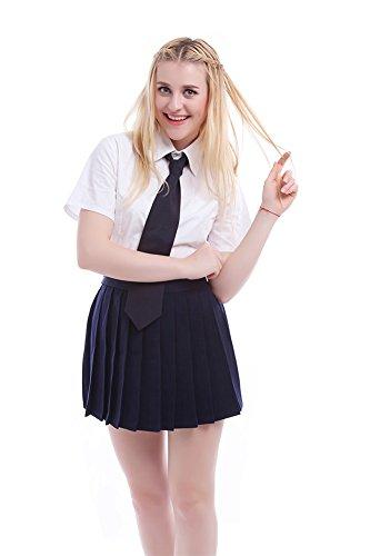 Nuotuo Womens Summer Lolita School Uniform Dress Set (Us 18, Dark Blue)
