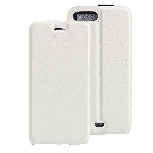 Para iPhone 7 Plus / iPhone 8 Plus Caso compacto de piel PU, arriba-abajo piel abierta PU Funda de piel con ranura para tarjeta y función de protección completa con cierre magnético Caja a prueba de g Blanco