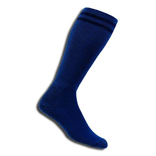 Thorlos Moderate Cushion Uniform Postal Otc Sock Size: L, Postl Blue with a Helicase Sock Ring