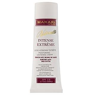 Makari Naturalle Intense Extreme Lightening FACE Cream 1.7oz – Moisturizing & Toning Cream with Shea Butter & SPF 15 – Anti-Aging & Whitening Treatment for Dark Spots, Acne Scars & Wrinkles