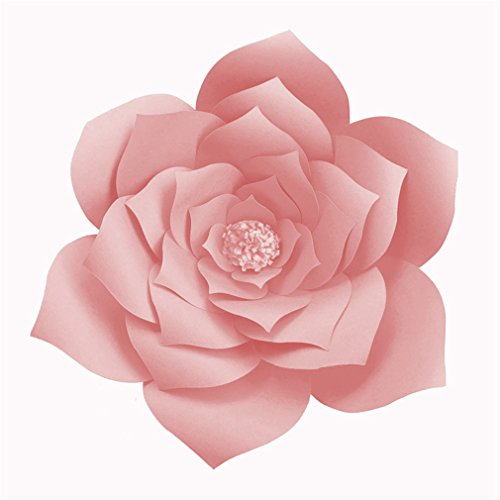 2Pcs 20Cm DIY Paper Flowers Backdrop Decorative Artificial Flowers Wedding Favors Birthday Party Home Decoration Light Pink