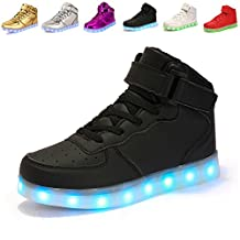 ANLUKE Kids High Top Light Up LED Shoes 11 Colors Sneakers as gift for Boys Girls Men Women