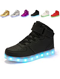 ANLUKE 11 Colors LED Shoes Light Up Flashing Sneakers as gift for Boys Girls Men and Women