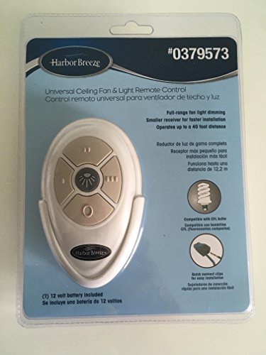 Harbor Breeze Universal Ceiling Fan & Light Remote Control by Harbor Breeze