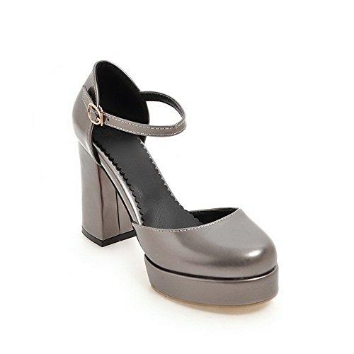 BalaMasa Womens Sandals High-Heel Huarache Urethane Sandals ASL04839 Brown OiGVwFLvM