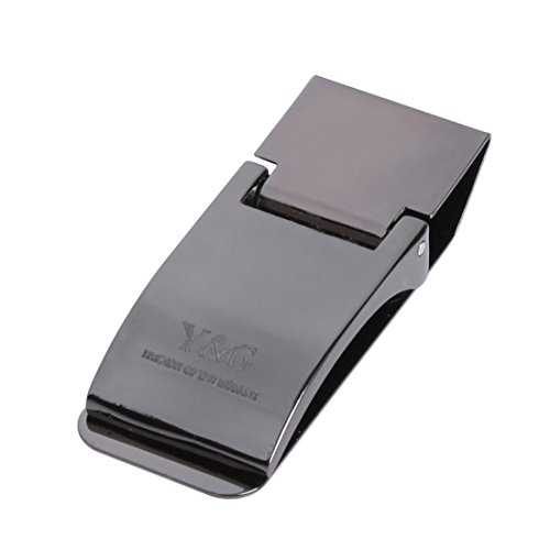 Y&G MC1019 Excellent Contemporary Popular Black Mens Stainless Steel Money Clips Wedding Mens Elegant Presents Idea (Classic Money Clip)