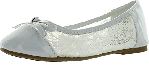 Jelly Beans Poss Kid's Big Girl Fashion Mesh Bow Ballet Flat