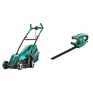 Bosch Rotak 36 R Electric Rotary Lawn Mower, Cutting Width 36 cm & AHS 45-16 Electric Hedge Cutter, 450 mm Blade Length…