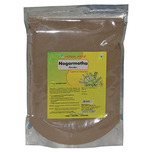 Herbal Hills Nagarmotha Powder (Cyperus rotundus)- 1kg, good digestive & carminative properties and cholesterol level