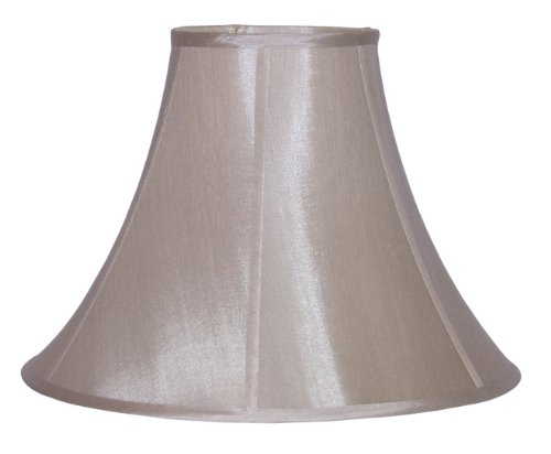 Lamp Factory A71713-CHAM A Ray of Light Large Champagne Pongee Silk Bell Lamp Shade, 7