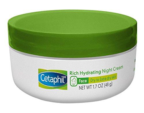Cetaphil riche hydratant crème de nuit à l'acide hyaluronique, 1,7 oz