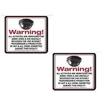 SECURITY DECAL - 2 Pack VAS #145 MINI DOME 21ST Century Live Internet AUDIO/ VIDEO Commercial Security, Surveillance...