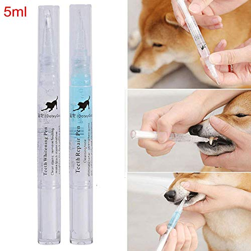 ANLUQIRIYON Dog Teeth Cleaning Kit, Cat Teeth Whitening Pens Tartar Cleaning Tools