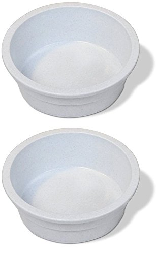 (Pureness Heavyweight Large Crock Pet Dish, 52-Ounce, Colors May Vary [2-Pack])