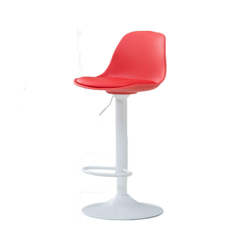 Red Bar Chair Household Lifting redating Dining Chair High Resilience Sponge Filling Plating Base ABS Resin Raw Material 5 color 40CM  75-95CM (color   Red)