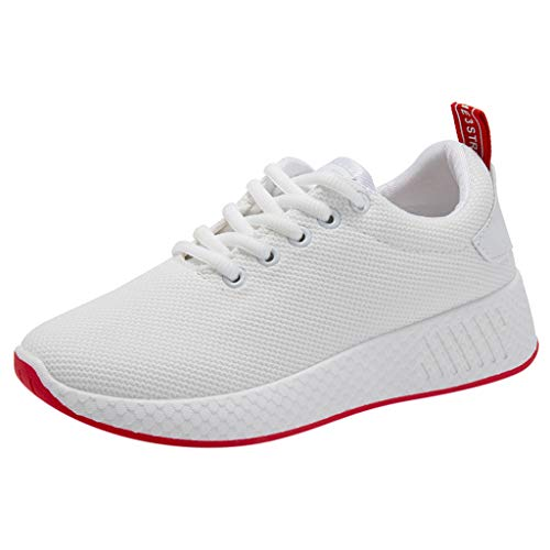 NYGSTORE Best Running Shoes for Women 2019,Women's Fashion Casual Mesh Lace Up Breathable Sports Running Sneakers Shoes White