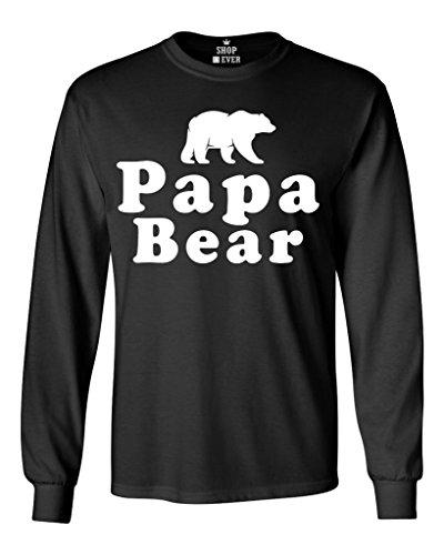 Shop4Ever Papa Bear Long Sleeve Shirt Couples Shirts