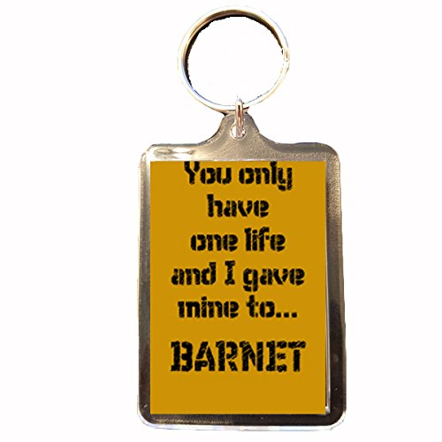 One Life Keyring Barnet F.C
