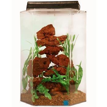 SeaClear 20 gal Deluxe Hexagon Acrylic Aquarium Combo Set...