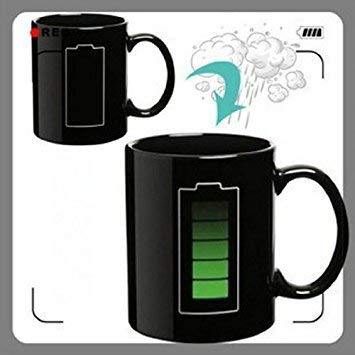 Sweet Dream LED Battery Color Changing Thermometer Heat Cup Sensitive Porcelain Tea Coffee Mug