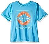 Columbia Boys PFGStamp Short Sleeve Shirt, Riptide Waves, Large