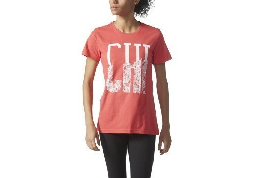 7ac9a4290cf adidas Women's City Graphic Tee, Shock Red/White/Chi, X-Small