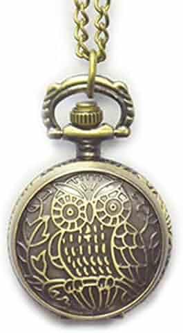 Boshiya Owl Openwork Cover Quartz Pocket Watch