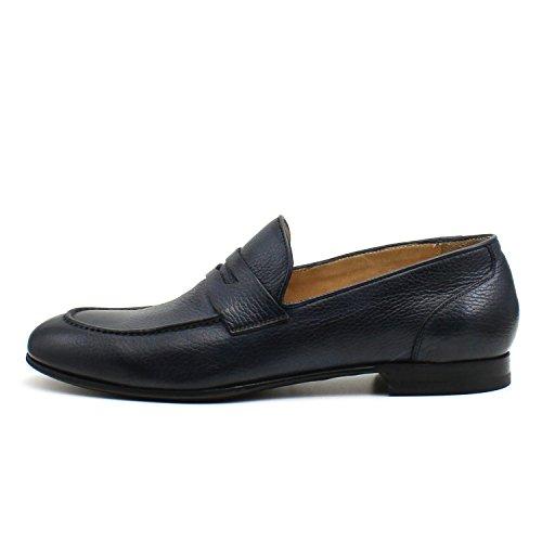 Giorgio Rea Zapatos Para Hombre Azul Elegante Hombre Zapatos Hecho A Mano EN Italia Cuero Real Brogue Oxfords Richelieu Mocasines Azul oscuro