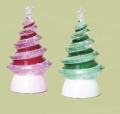 Led Lighted Color Changing Christmas Tree Swirl Glitterdomes in US - 2