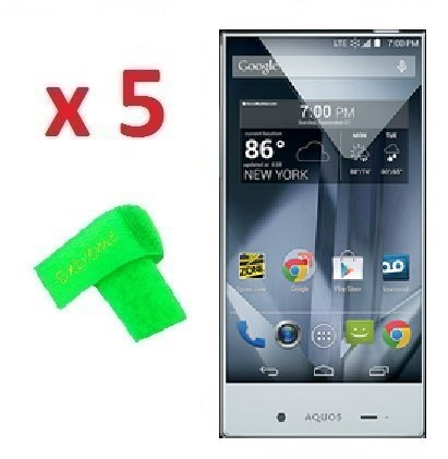 Amazon com: 5 x Sharp Aquos Crystal 306SH 306-SH Screen Protector