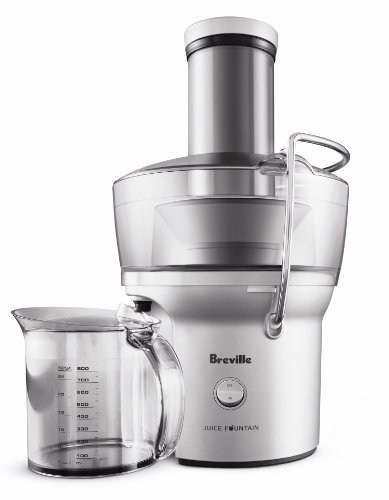 Breville BJE200XL Compact Juice Fountain 700-Watt Juice Extractor (Best Juicer Without Pulp)
