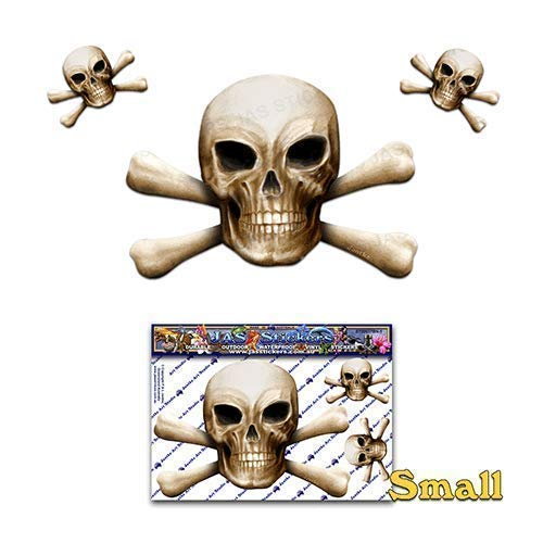 Bone Skull N X Bones Scary Halloween Pirate Joke Vinyl Car Sticker Decal Pack For Laptop, Caravans, Trucks, Boats ST00037BN-1 - JAS Stickers