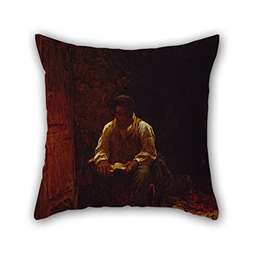 Star Pillow Cuddle (Oil Painting Eastman Johnson - The Lord Is My Shepherd Throw Pillow Case ,best For Couch,shop,valentine,birthday,dining Room,seat 18 X 18 Inches / 45 By 45 Cm(each Side))