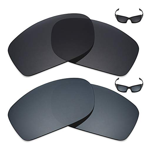 Mryok 2 Pair Polarized Replacement Lenses for Oakley Fives Squared Sunglass - Options (Oakley Five Replacement Lens)