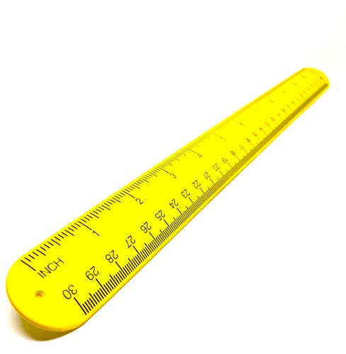 - Snap Ruler - Silicone Bracelet Tape Measure Band - 12